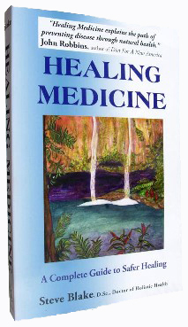 Healing Medicine book front cover by Steve Blake